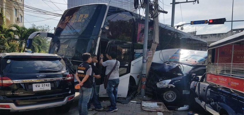 Множественная авария в Паттайе