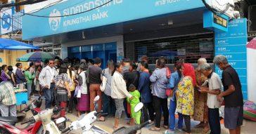 В Таиланде праздничная раздача по 500 батов населению вызвала хаос
