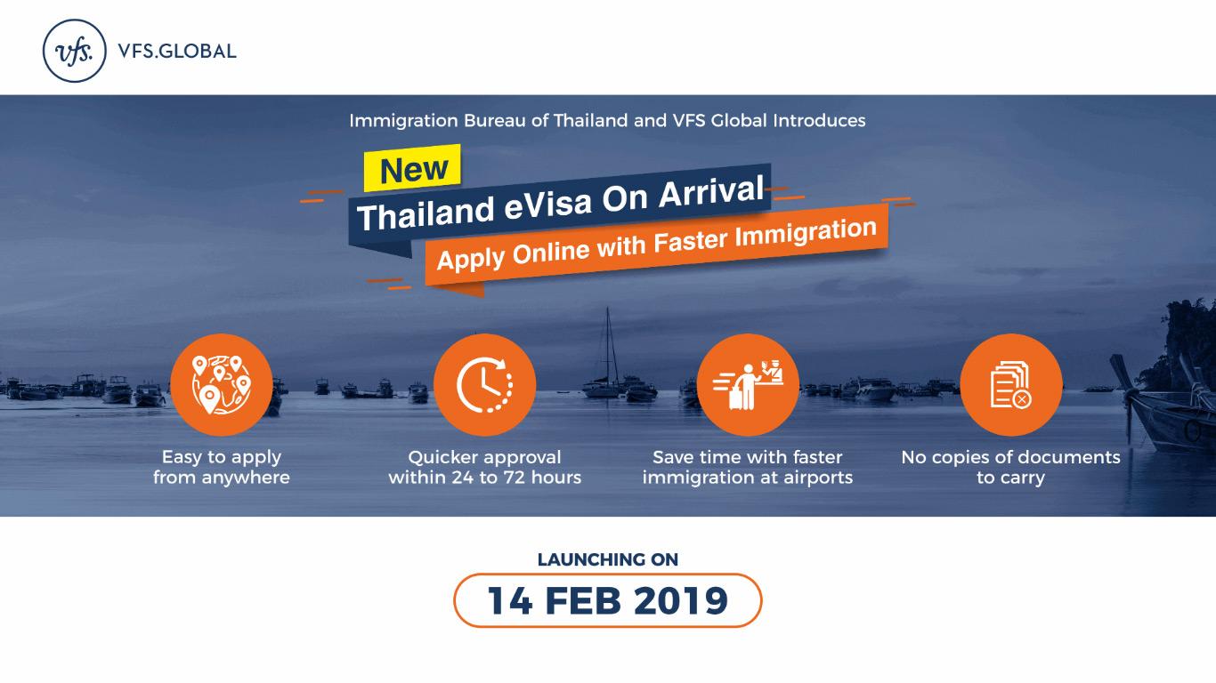 Туристы, собирающиеся посетить Таиланд, смогут воспользоваться услугой eVOA на специальном веб-сайте