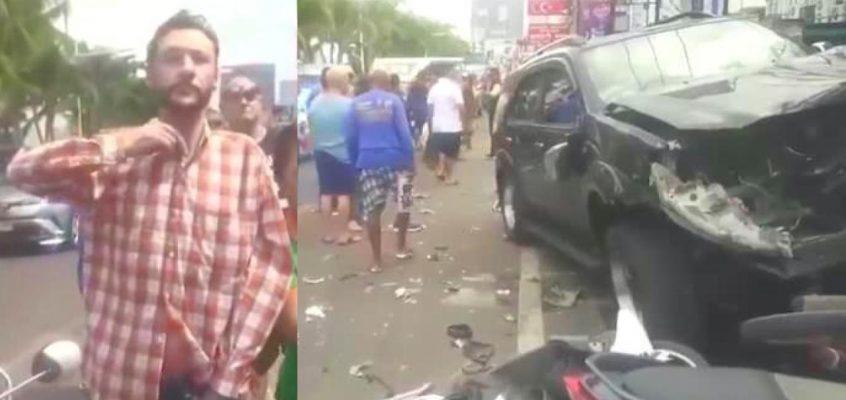 Автомобиль сбил 15 припаркованных мотоциклов в Паттайе