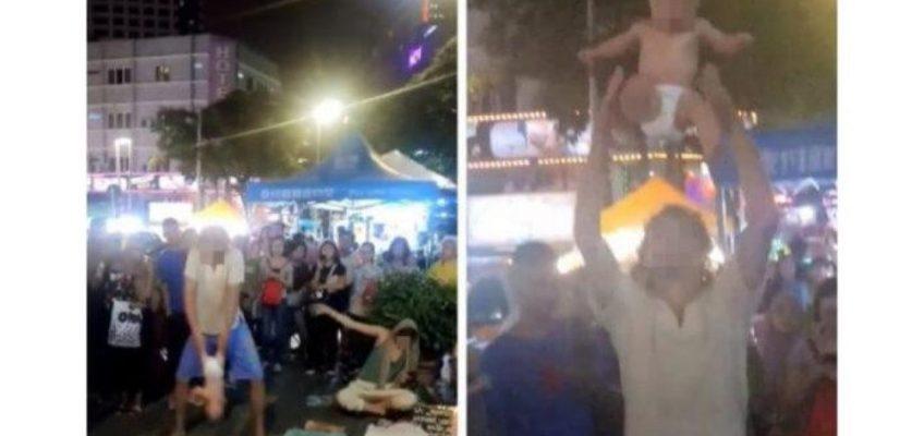 Россияне в Малайзии жонглировали собственным ребенком
