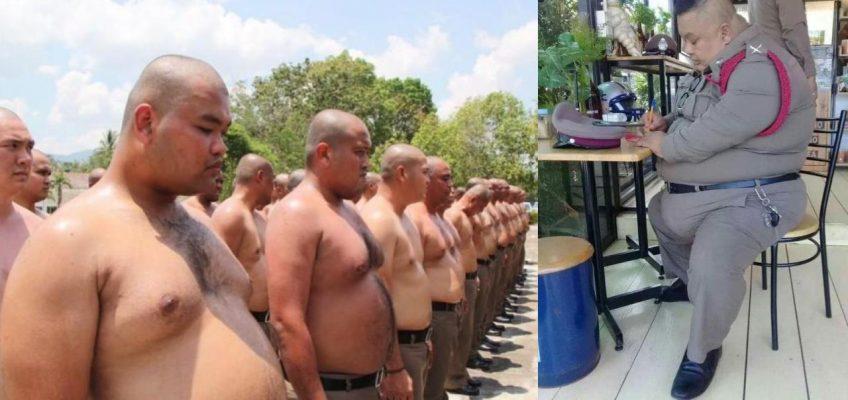 Борьба с толстыми полицейскими в Таиланде