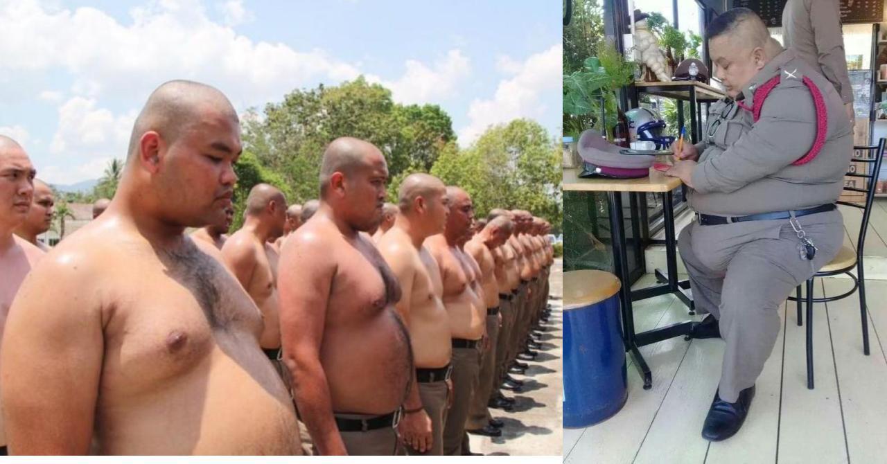 Толстых полицейских, в Индонезии, заставят бегать.