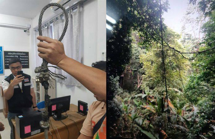В Чиангмае турист погиб на туристическом аттракционе Полёт Гиббона