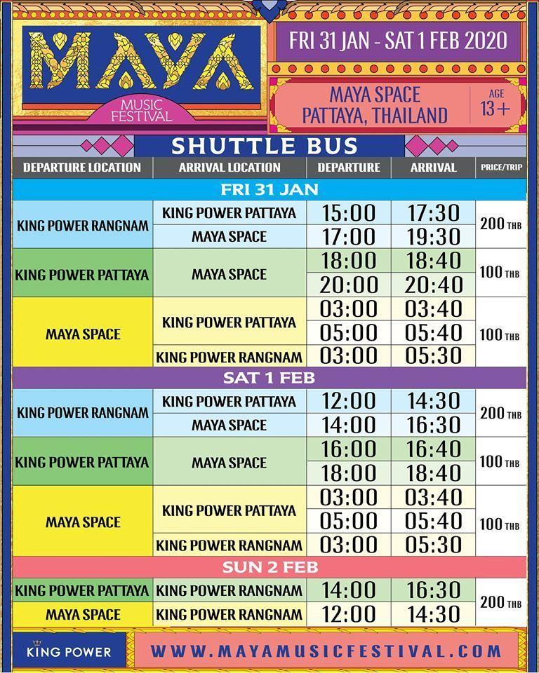 Музыкальный фестиваль MAYA 2020 в Паттайе