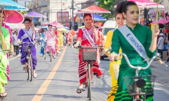 Фестиваль бумажных зонтиков в Таиланде — приглашает северный Чиангмай