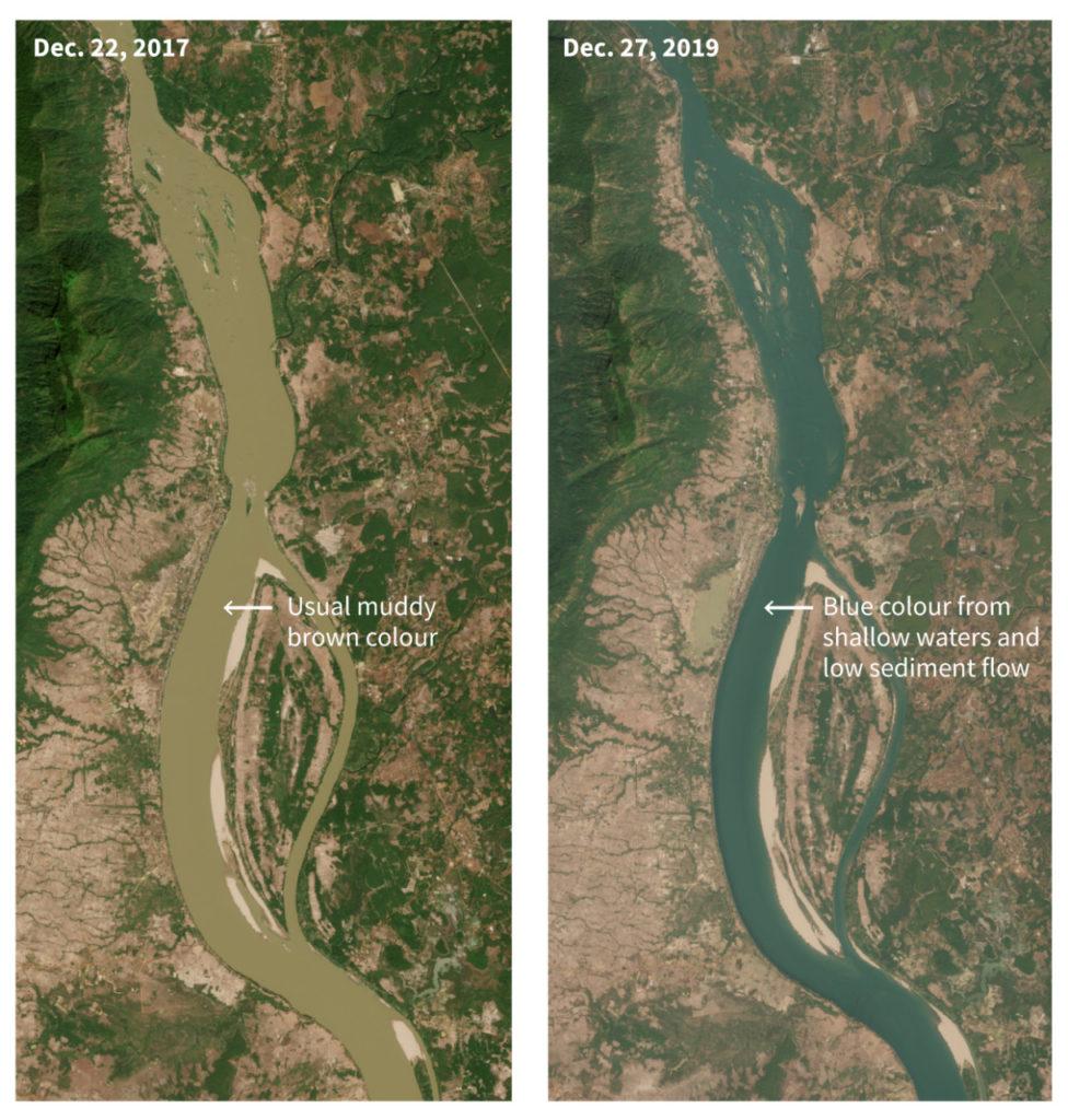 В Таиланде экологи бьют тревогу — вода в Меконге стала голубой