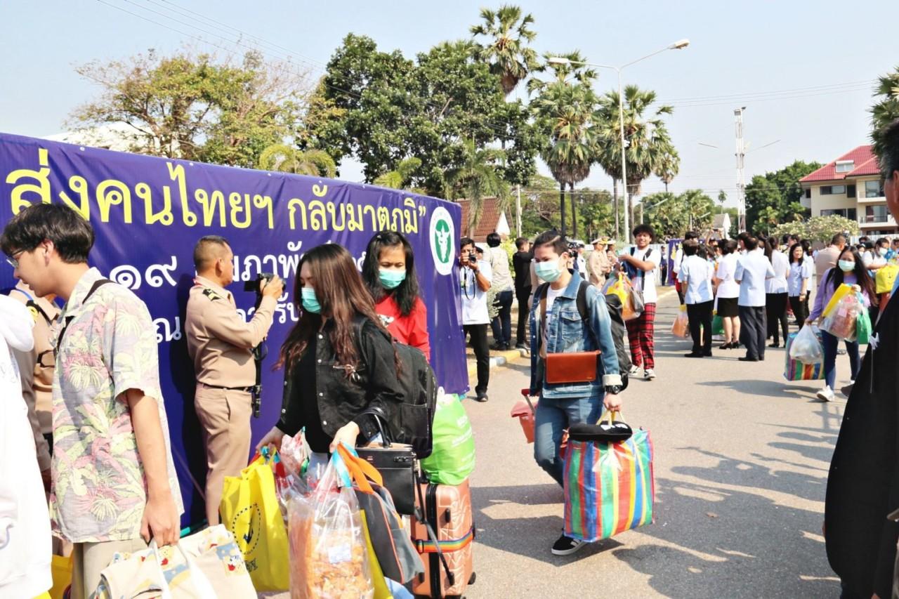 В Таиланде эвакуированные граждане из Уханя вышли из карантина