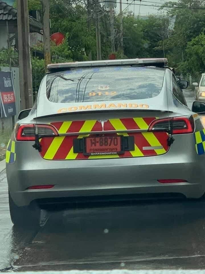 Полиция Таиланда арендовала семь электромобилей Тесла сроком на пять лет