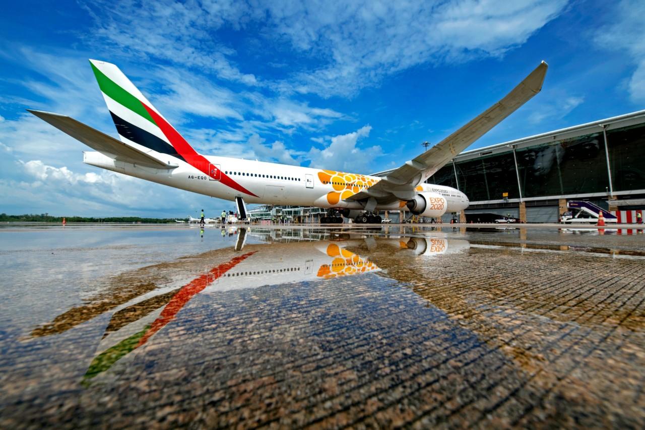 Первый самолёт Emirates Airlines приземлился в аэропорту Пхукета
