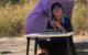 Тайская школьница вынуждена учиться под палящим солнцем