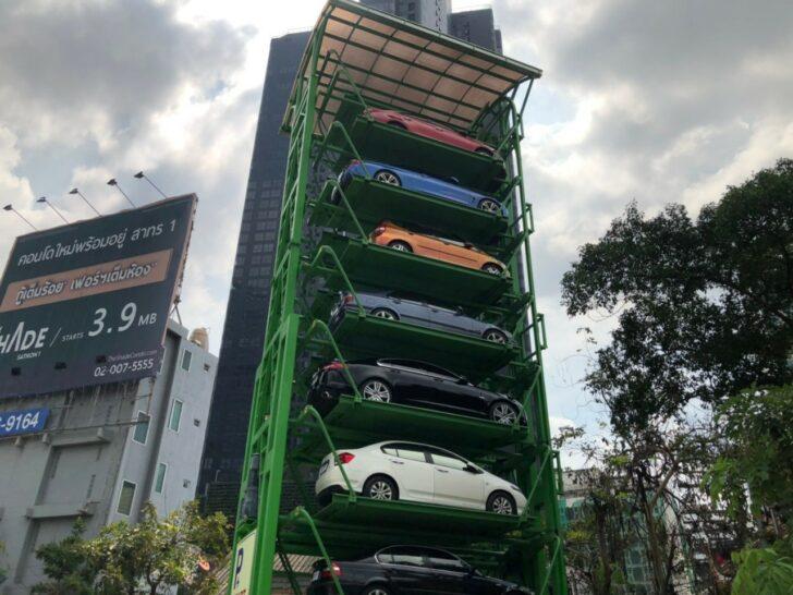 В Бангкоке открылась первая вертикальная автоматическая парковка